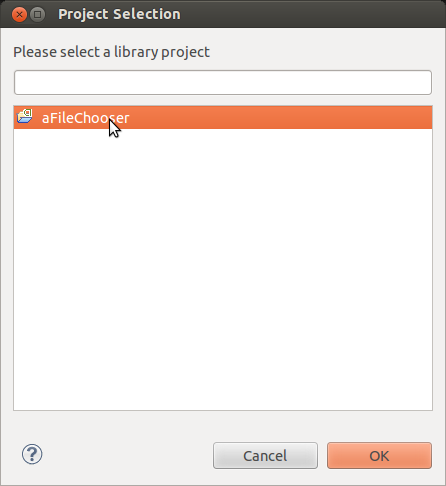 Eclipse library dialoge