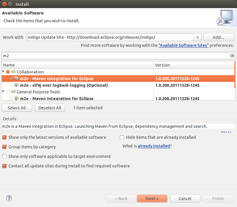 Eclipse software installation - Maven
