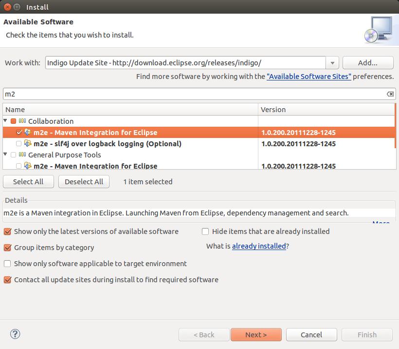 Eclipse software installation - Maven